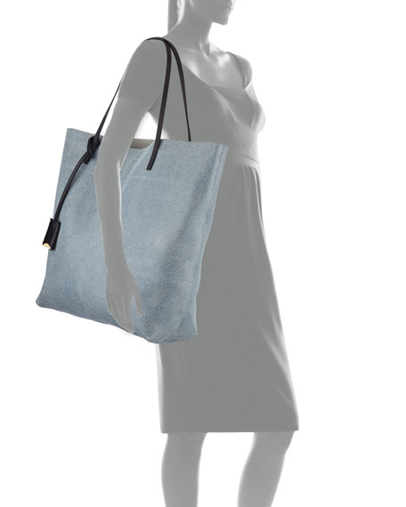 Linde Gallery Leather Medium Tote Bag, Blue