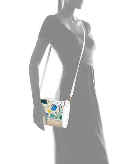 Nancy Gonzalez Carrie Floral Crocodile Clutch Bag