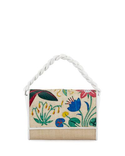 Carrie Floral Crocodile Clutch Bag