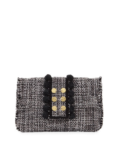 Tweed Pouch Clutch Bag