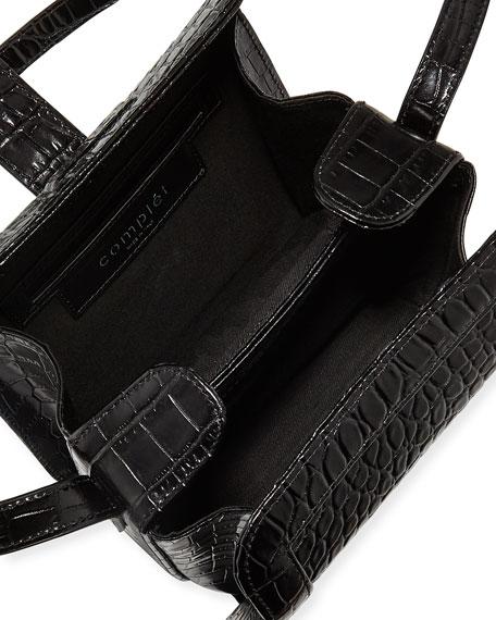 Complet Jade Croc-Embossed Crossbody Bag