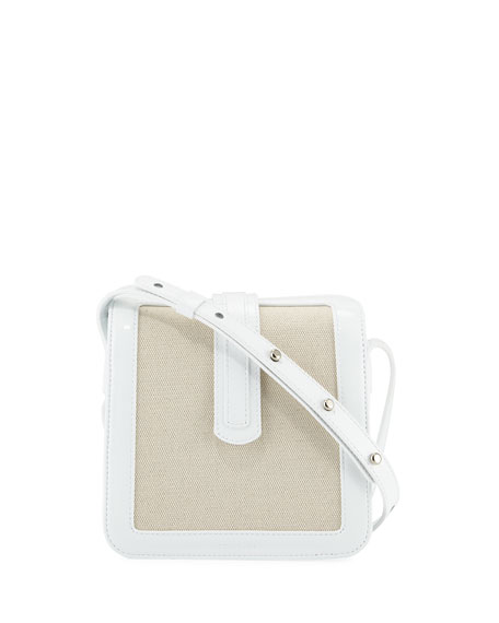 Complet Jade Patent/Canvas Crossbody Bag