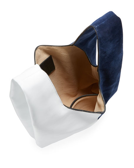 Hayward Shopper Two-Tone Leather Tote Bag