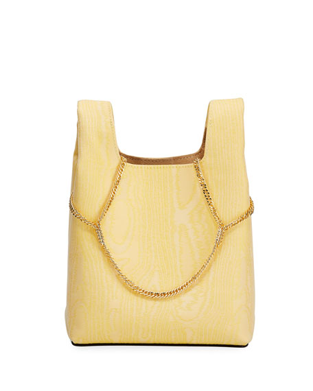 Hayward Mini Chain Moire Clutch Bag - Golden Hardware
