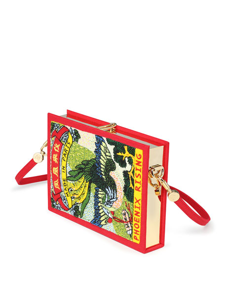 Olympia Le-Tan Phoenix Book Box Crossbody Bag