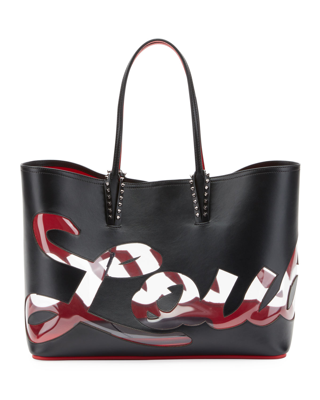 Cabata Logo Paris Tote Bag by Christian Louboutin