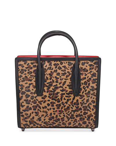 Paloma Medium Calf Rio Leopard Tote Bag