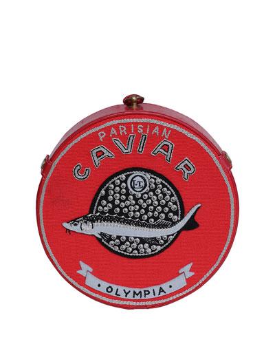 Caviar Round Crossbody Bag