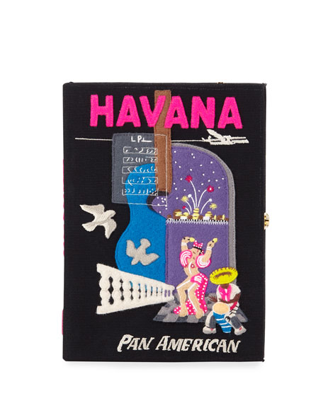 Olympia Le-Tan Havana Embroidered Book Clutch Bag