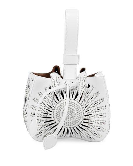 ALAIA Rose Marie Mini Tressor Bucket Bag