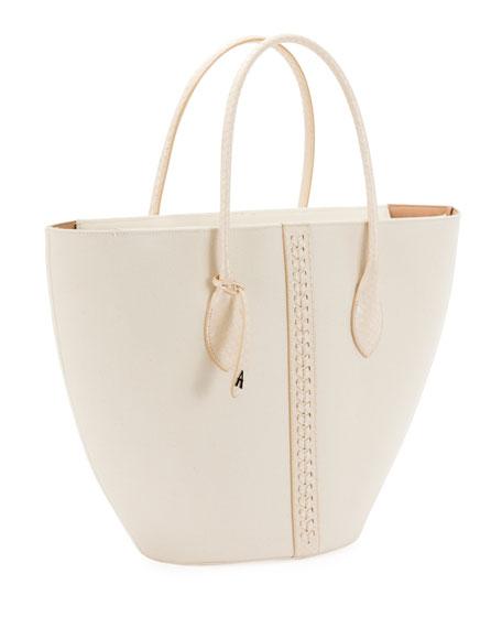 ALAIA Latifa Small Canvas Tote Bag