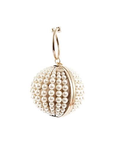 Billie Pearly Ball Clutch Bag