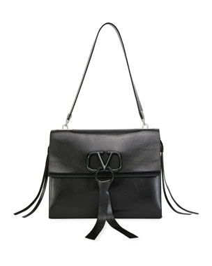 47ec1187f0 Valentino Garavani V Ring Medium Vitello Luxe Shoulder Bag