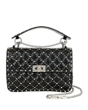 a081fa653e Valentino Garavani Spike.It Medium Micro-Stud Leather Shoulder Bag