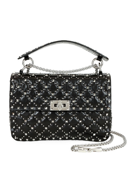 Valentino Garavani Spike.It Medium Micro-Stud Leather Shoulder Bag