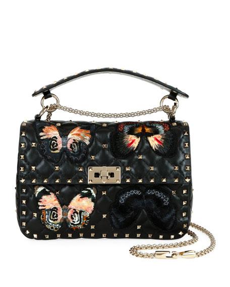 Valentino Garavani Spike.It Medium Butterfly Shoulder Bag
