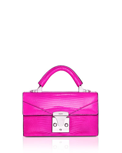 Mini Lizard Top Handle Bag  Bright Purple