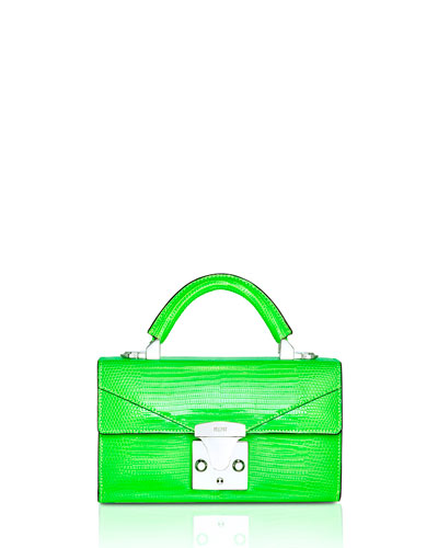 Mini Lizard Top Handle Bag  Bright Green