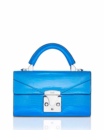Mini Lizard Top Handle Bag  Bright Blue
