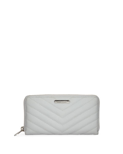 Edie Quilted Leather Continental Wallet