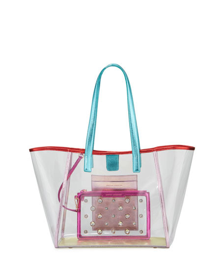 Sophia Webster Dina Gem Vinyl Tote Bag