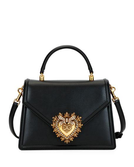 Dolce & Gabbana Devotion Leather Shoulder Bag