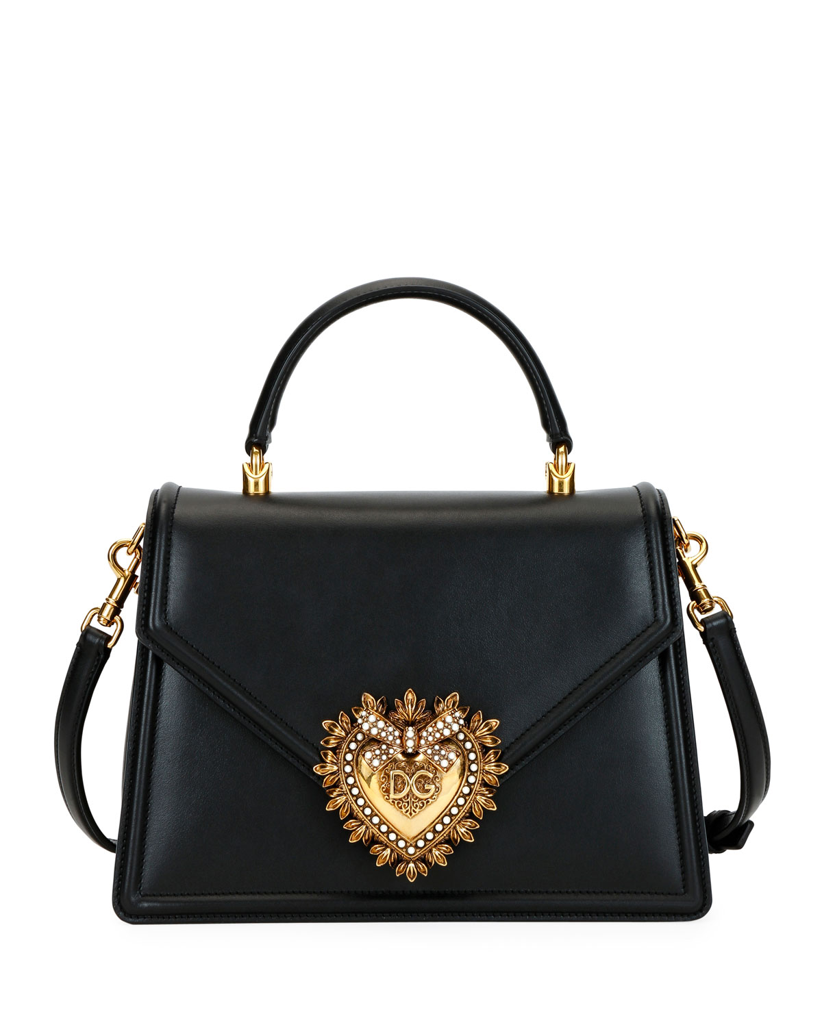 Devotion Leather Shoulder Bag by Dolce & Gabbana
