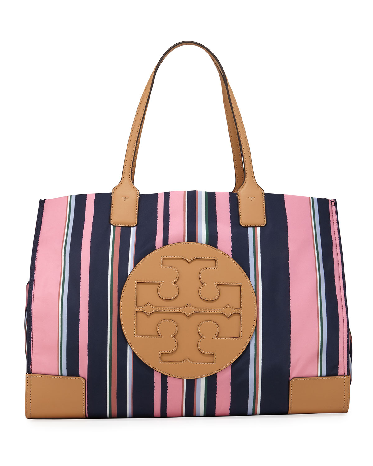 Ella Striped Nylon Tote Bag by Tory Burch