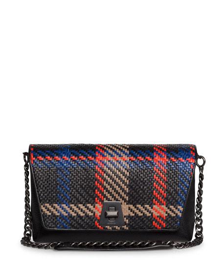 Akris Anouk Day Braided Leather Clutch Bag w/ Chain