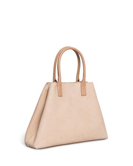 Akris Al Small Nubuck Top Handle Bag