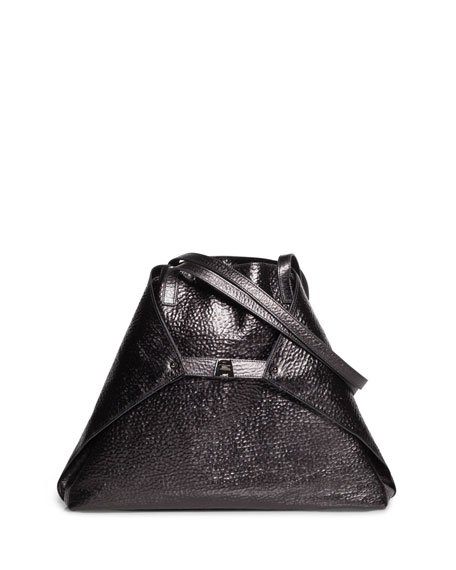 Akris Al Medium Soft Hammered Leather Shoulder Bag
