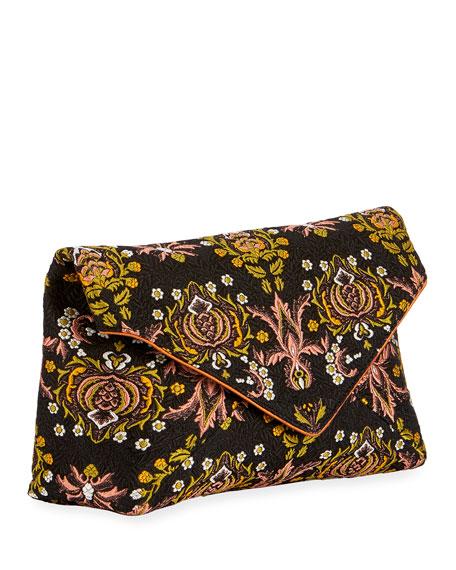 Dries Van Noten Jacquard Envelope Clutch Bag