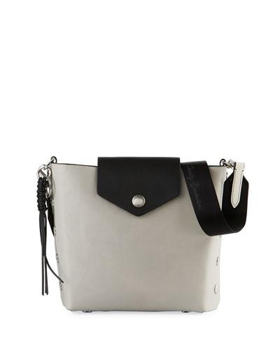 Atlas Leather Bucket Bag  Gray