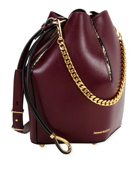 Alexander McQueen The Bucket Bag in Shiny Calf Leather
