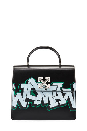 Off-White Jitney 4.3 Graffiti Top-Handle Bag