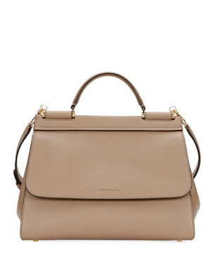 1f06b47291218 Dolce   Gabbana Sicily Soft Top-Handle Bag
