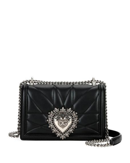 Dolce & Gabbana Devotion Medium Quilted Napa Crossbody Bag