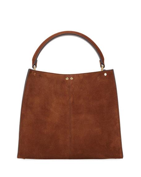 Fendi Peekaboo Suede FF 1974 Top-Handle Bag