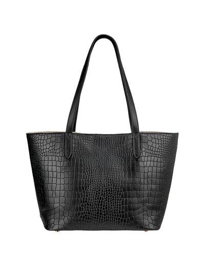 Teddy Alligator-Print Tote Bag