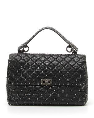 db797a53d Valentino Garavani Rockstud Spike Large Lamb Leather Shoulder Bag