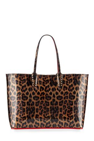 Christian Louboutin Cabata Leopard-Print Patent Tote Bag