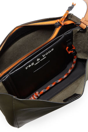 Ginny Rainbow Leather Half Moon Crossbody Bag | Michael Kors