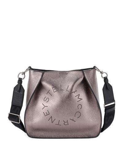 Metallic Logo Small Crossbody Bag