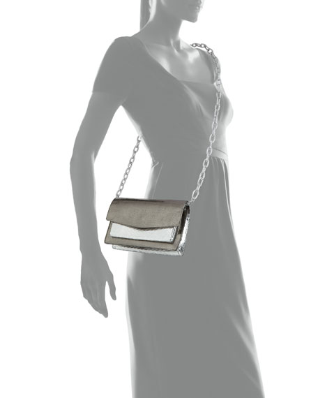 Nancy Gonzalez Eden Mini Holographic Lizard Crossbody Bag