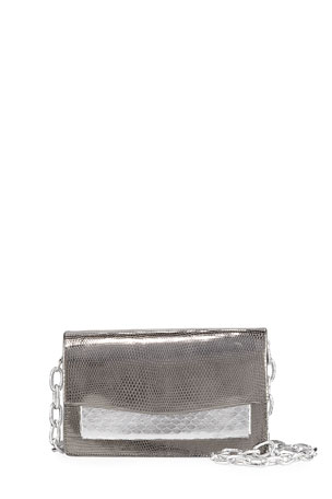Nancy Gonzalez Eden Mini Holographic Lizard Crossbody Bag