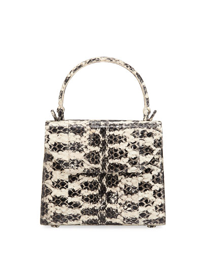 Lily Mini Snake & Crocodile Top-Handle Bag