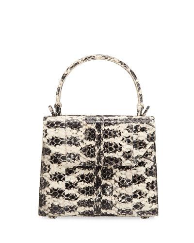Lily Mini Snake & Crocodile Top-Handle Bag
