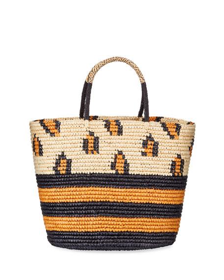 Sensi Studio Leopard Tote Bag