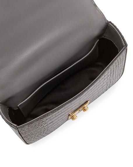 Miu Miu St. Cocco Alligator-Embossed Crossbody Bag