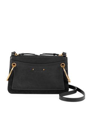 9af44c667 Chloe Roy Mini Leather/Suede Double-Zip Shoulder Bag